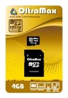 OltraMax microSDHC Class 10 + SD adapter