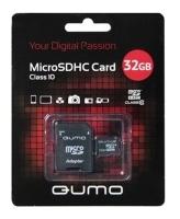 Qumo microSDHC Class 10 + SD adapter