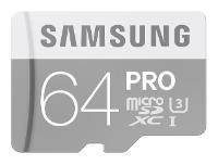 Samsung microSDXC PRO UHS-I U3 90MB/s + SD adapter