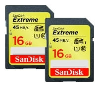 Sandisk Extreme SDHC UHS Class 1 45MB/s